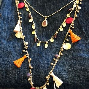 Jewelry - Statement necklace fringed